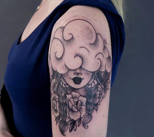 Half-sleeve dreamer tattoo