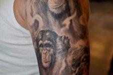 gorgeous half-sleeve tattoo