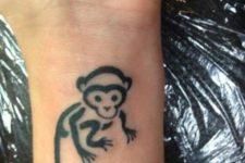 Minimalistic tattoo on the wrist
