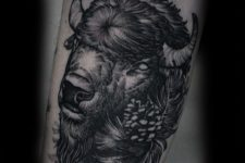Realistic tattoo on the arm