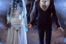 02 Corpse bride and her groom from Nightmare Before Christmas is a romantic idea