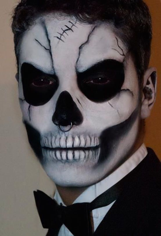 Halloween Make Up Skelet.15 Bold Halloween Makeup Ideas For Men Styleoholic