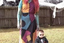 04 Jack Skellington and Sally costumes for the mom and her son