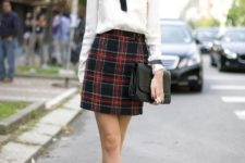 stylish back to school outfit with plaid