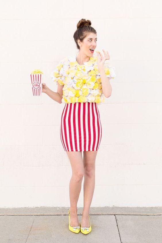 fun popcorn girl's costume