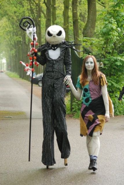 Picture Of Jack skellington and Sally costumes from Nightmare ...