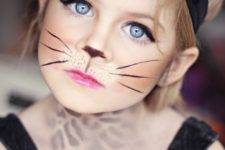 cat halloween makeup for a girl