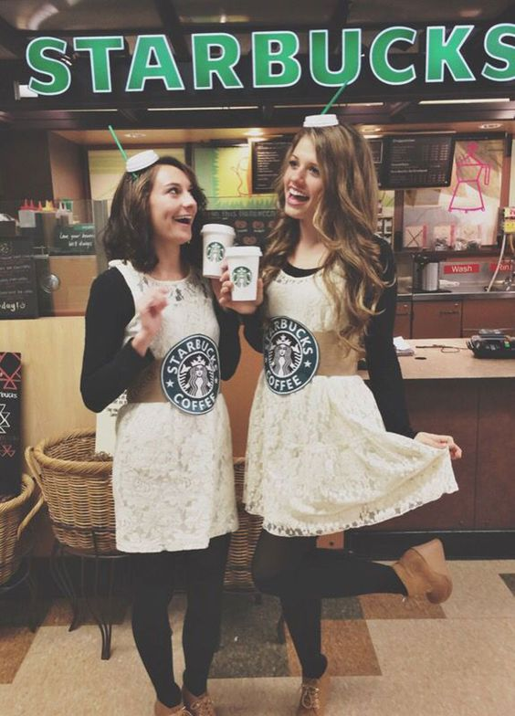 picture of best friend stabucks costumes inspired by drinks