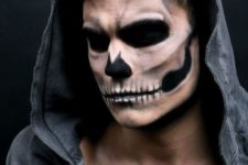 06 rather natural skull makeup for men looks really scary and harsh