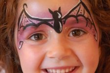 08 bat girl face paint to turn your daughter into a super heroine