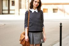 pleated skirt back to school look