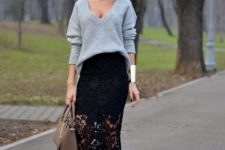 midi skirt for a fall's look
