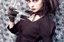 10 female Edward Scissor Hands in black looks creepy yet very stylish