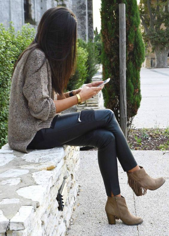 How To Style A Sweater With Leather 15 Ideas Styleoholic