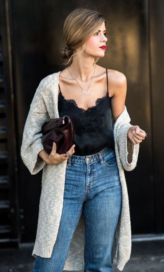 stylish fall cardigan look