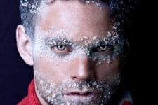 12 iceman costume is easy to make and you can add faux snow makeup