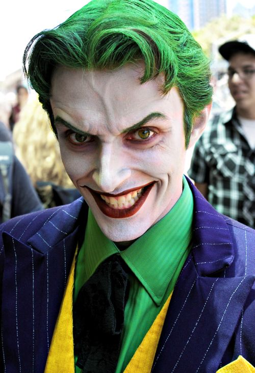 Joker makeup for Batman Chronicles fans