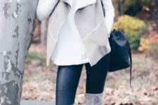 sweater and boots look