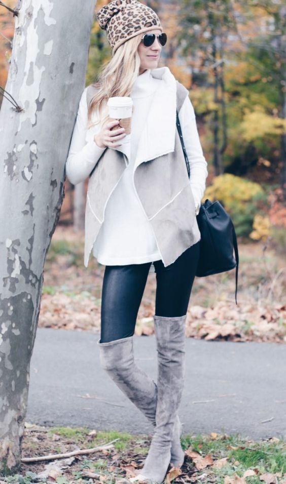 Picture Of sweater and boots look