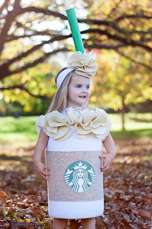 caramel frappuccino Halloween costume with a matching headband for a little girl  sc 1 st  Styleoholic & 15 Cool And Easy To Make Starbucks Halloween Costumes - Styleoholic