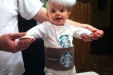 14 handmade Starbucks onesie costume for a little one