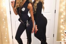 14 sexy Halloween cop costumes with tall boots and navy jumpsuits