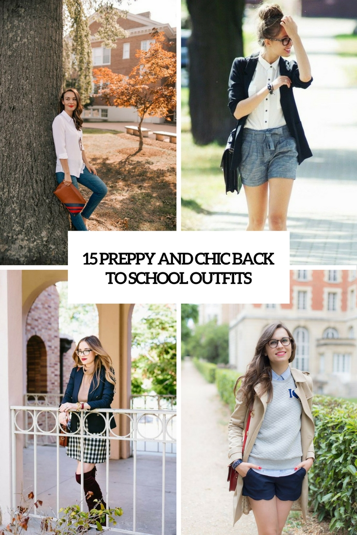 preppy and chic back to school outfits cover