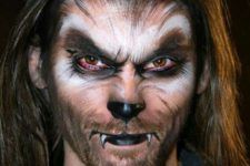 15 werewolf makeup looks really scary and bold on a man