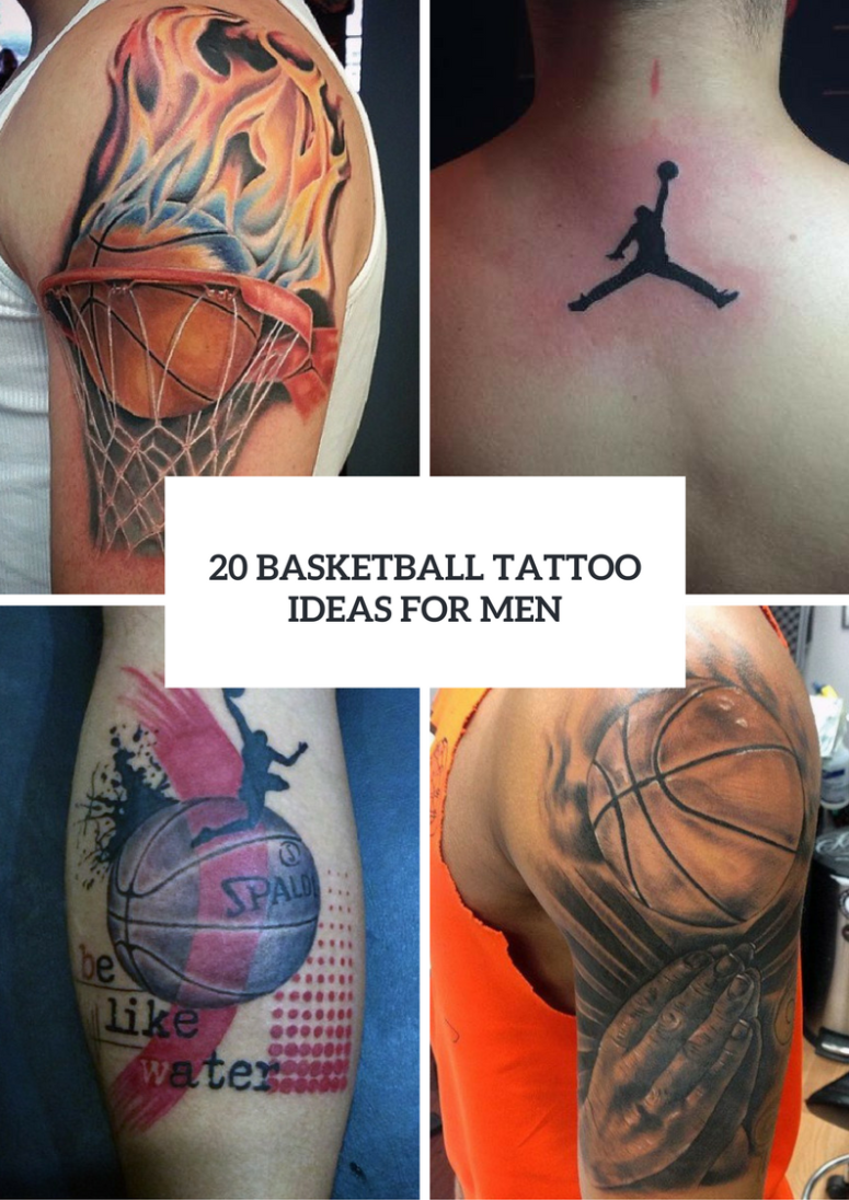20 men basketball tattoo ideas to repeat obsigen. Black Bedroom Furniture Sets. Home Design Ideas
