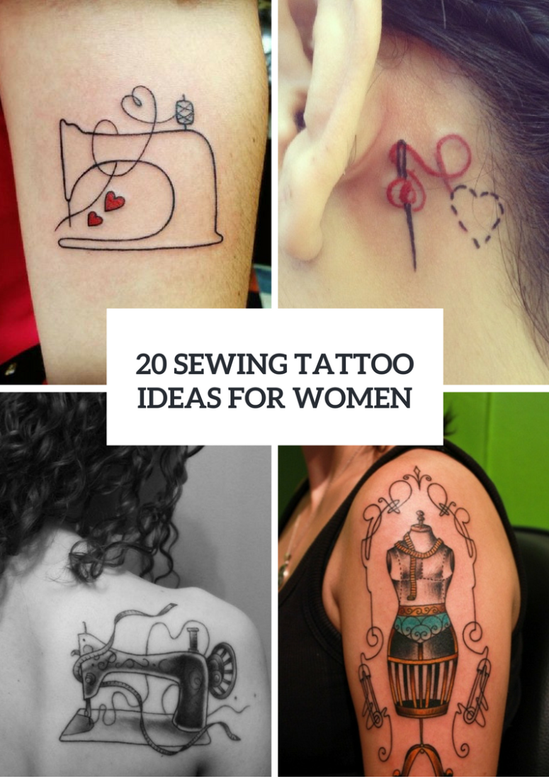 Sewing Tattoo Ideas For Creative Girls