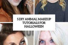 5 diy animal makeup tutorials for halloween cover
