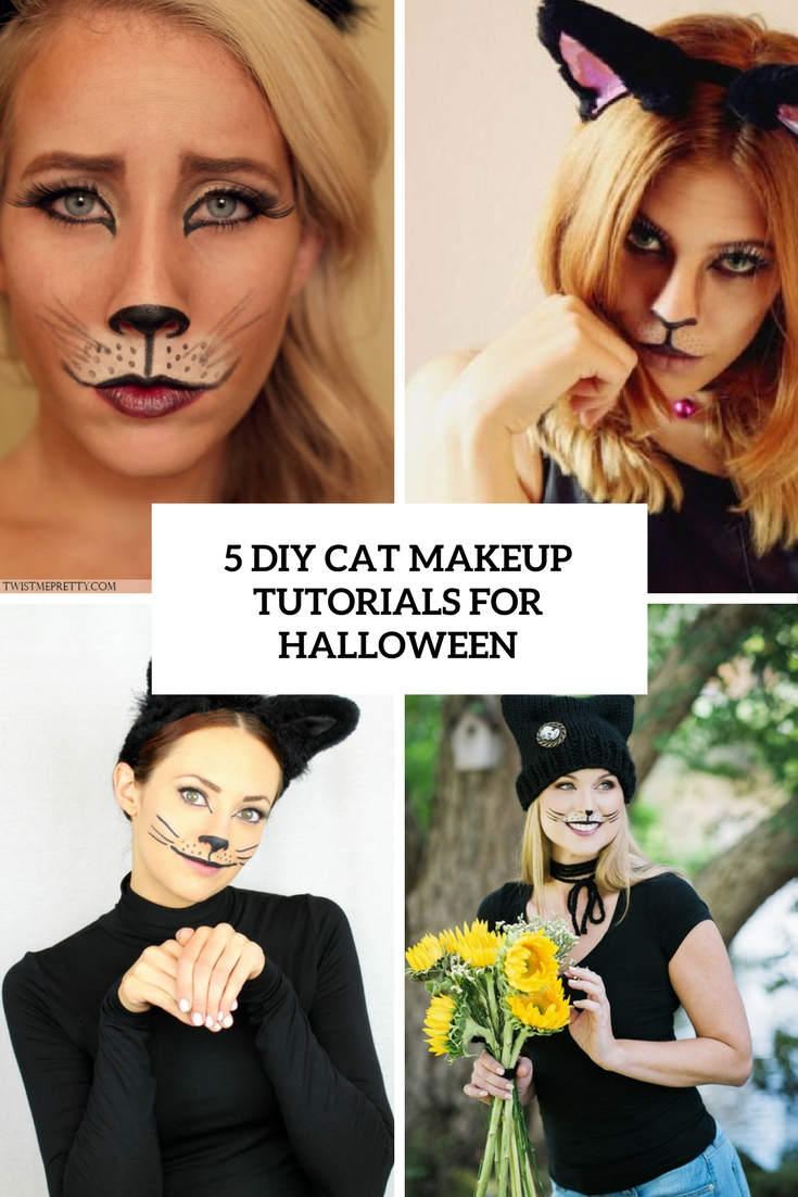 5 DIY Cat Makeup Tutorials For Halloween