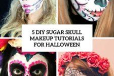 5 diy sugar skull makeup tutorials for halloween cover
