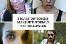 5 scary diy zombie makeup tutorials for halloween cover