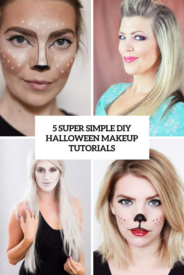 5 Super Simple DIY Halloween Makeup Tutorials - Styleoholic