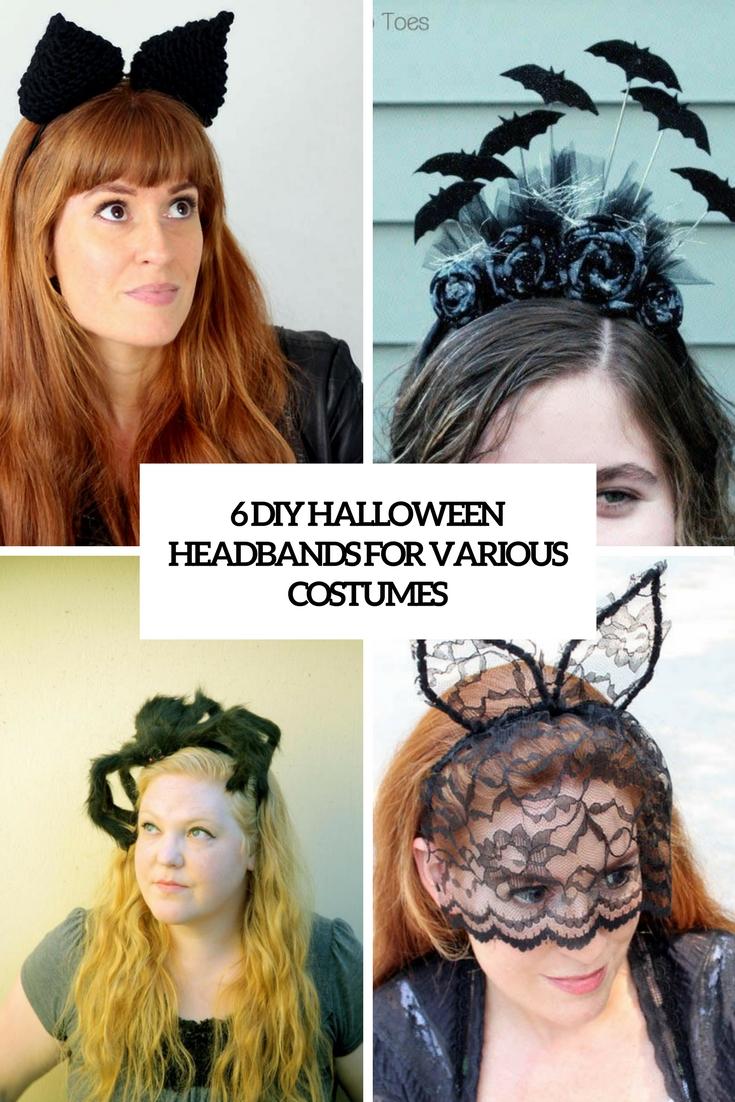 6 diy halloween headbands for various costumes - styleoholic