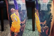 Amazing realistic tattoo on the leg