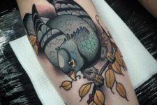 Awesome dove tattoo idea