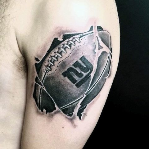 a26b366f8 21 Perfect Football Tattoo Ideas For Guys - Styleoholic