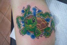 Baby turtle tattoo idea