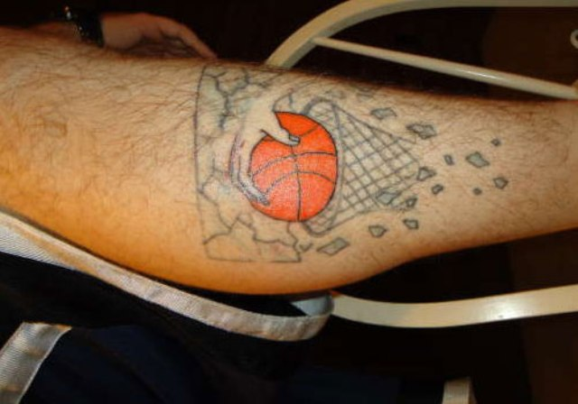 Ball and basket tattoo idea