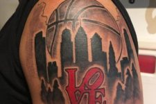 Basketball and New York tattoo