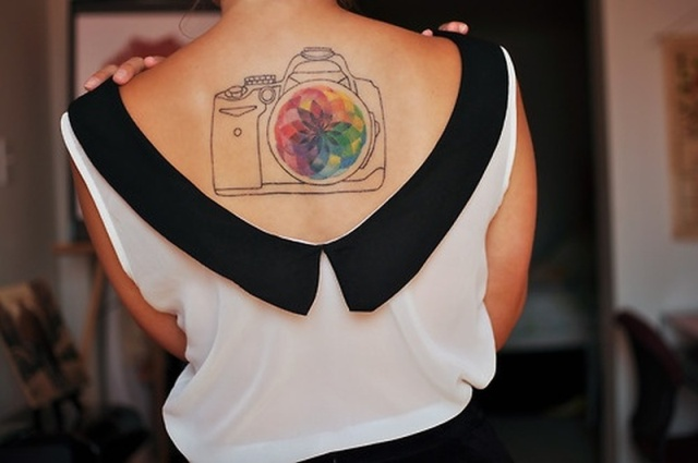 Beautiful tattoo on the back