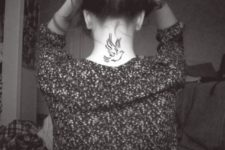 Beautiful tattoo on the neck