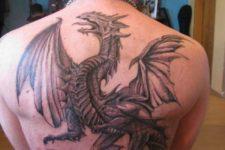 Big tattoo on the back