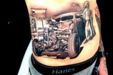 Car tattoo idea on the side