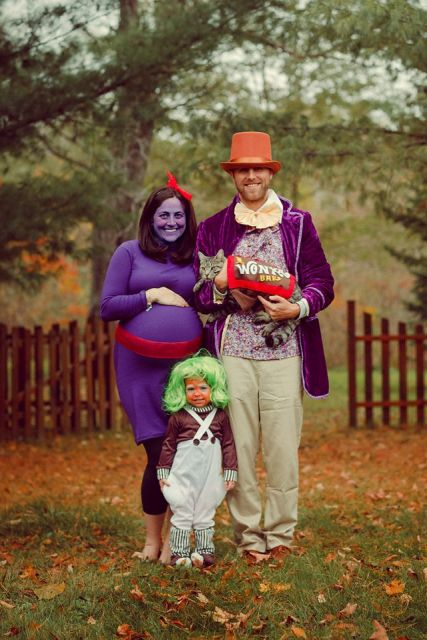 Charlie and the Chocolate Factory characters' costumes for the whole family including the cat