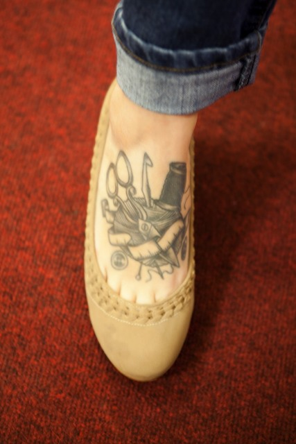 Cool tattoo on the foot