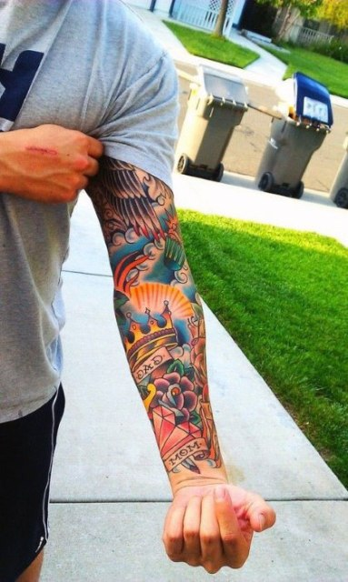Cool tattoo on the whole arm