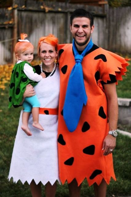 Picture Of Fred And Wilma Flintstone costumes for the parents Bamm Bamm Rubble costume for the kid  sc 1 st  Styleoholic & Picture Of Fred And Wilma Flintstone costumes for the parents Bamm ...